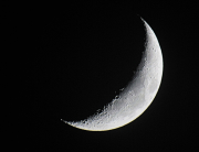 Waxing crescent moon by Mark McWilliams