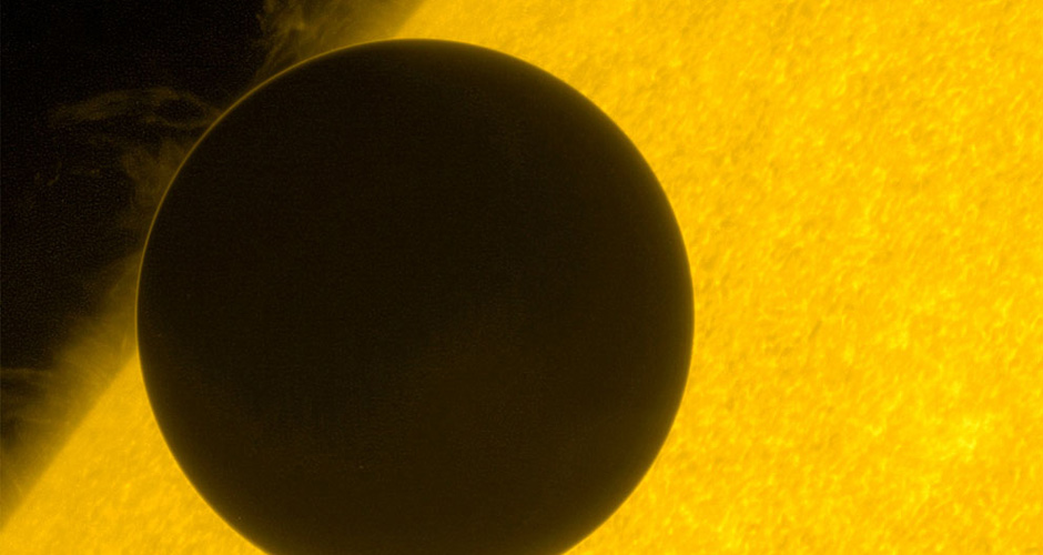 Venus moves across the Sun in this image captured by Japan's satellite Hinode, on June 6, 2012. One of the rarest astronomical events occurred yesterday, when Venus passed directly between the sun and Earth, a transit that won't occur again until 2117. (Reuters/JAXA)