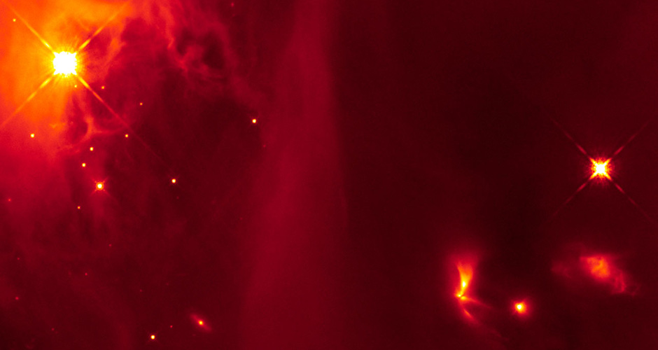Cosmic beacon flashes out from infant stars