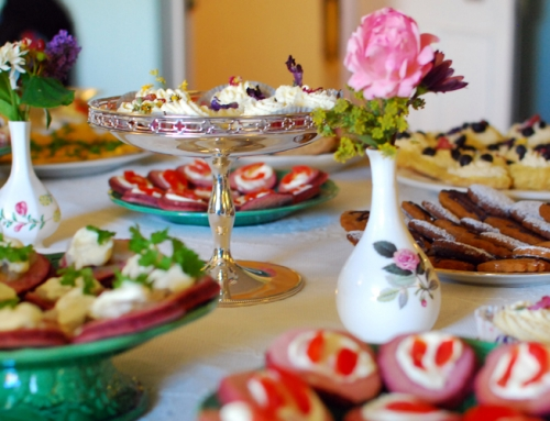 Afternoon tea at Skaill House
